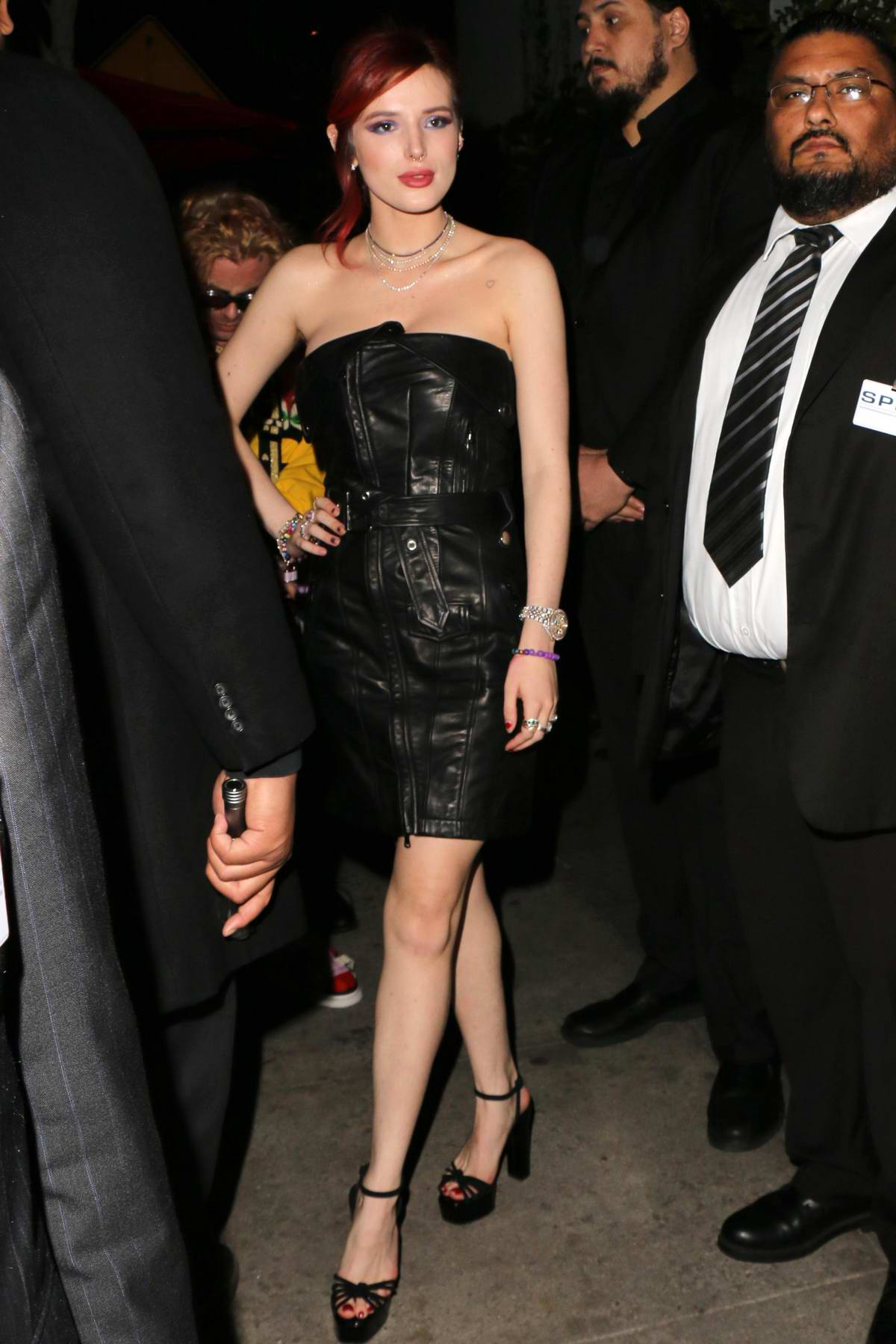 Bella Thorne and boyfriend Mod Sun arriving to the 'Midnight Sun' premiere after party at Avenue in Hollywood, Los Angeles