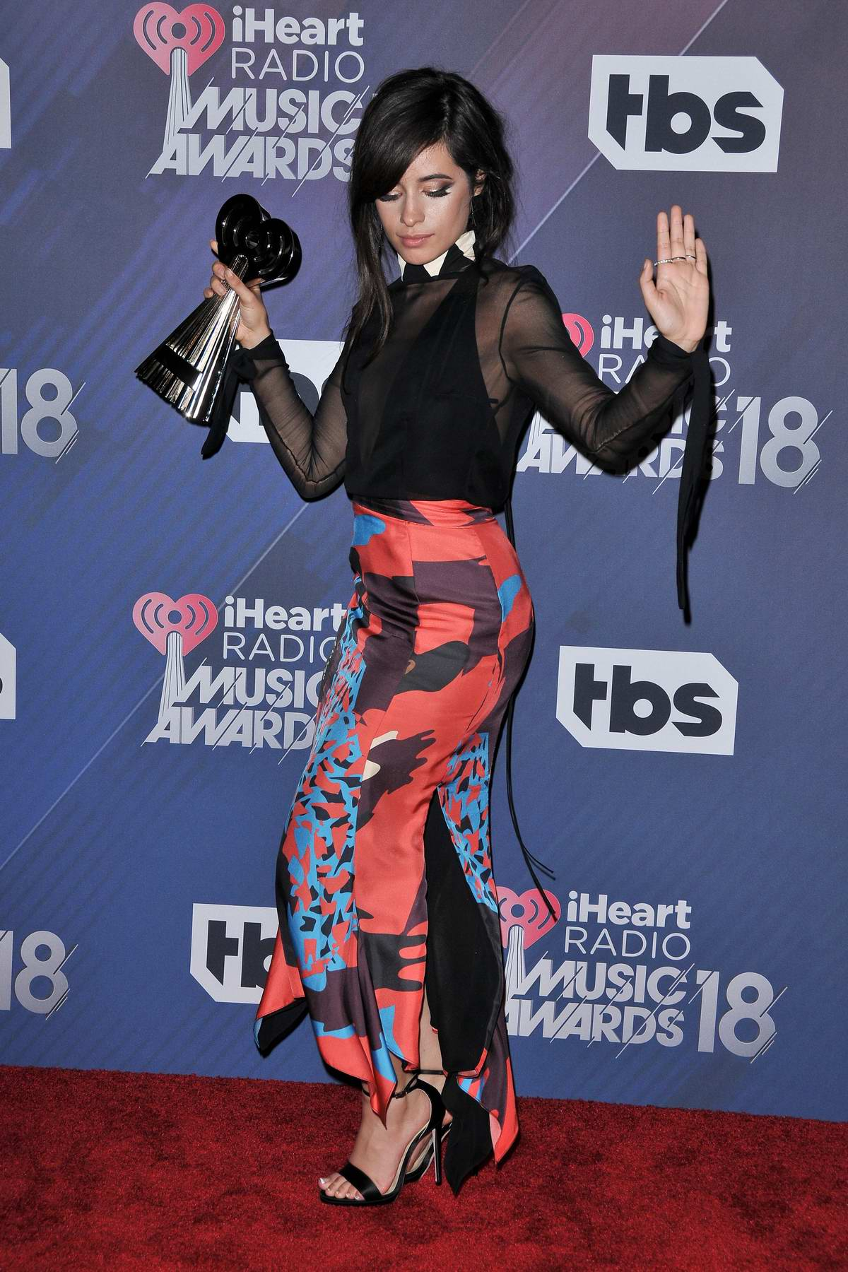 Camila Cabello attends the 2018 iHeartRadio Music Awards at The Forum in Inglewood, California