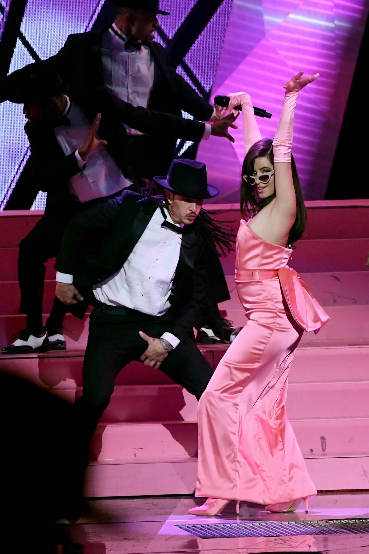 Camila Cabello performs at the 2018 iHeartRadio Music Awards at The Forum in Inglewood, California