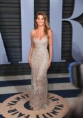 Camila Morrone attends 2018 Vanity Fair Oscar Party at the Wallis Annenberg Center for the Performing Arts in Beverly Hills, Los Angeles