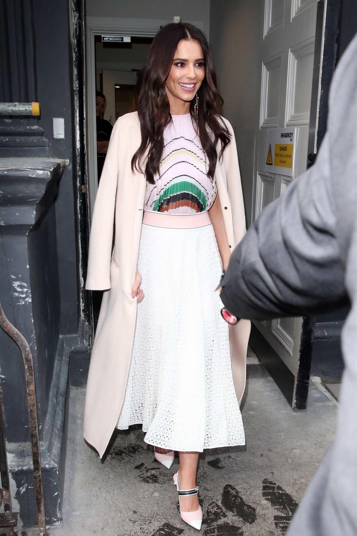 Cheryl Tweedy leaves The Prince's Trust Awards at the London Palladium, London
