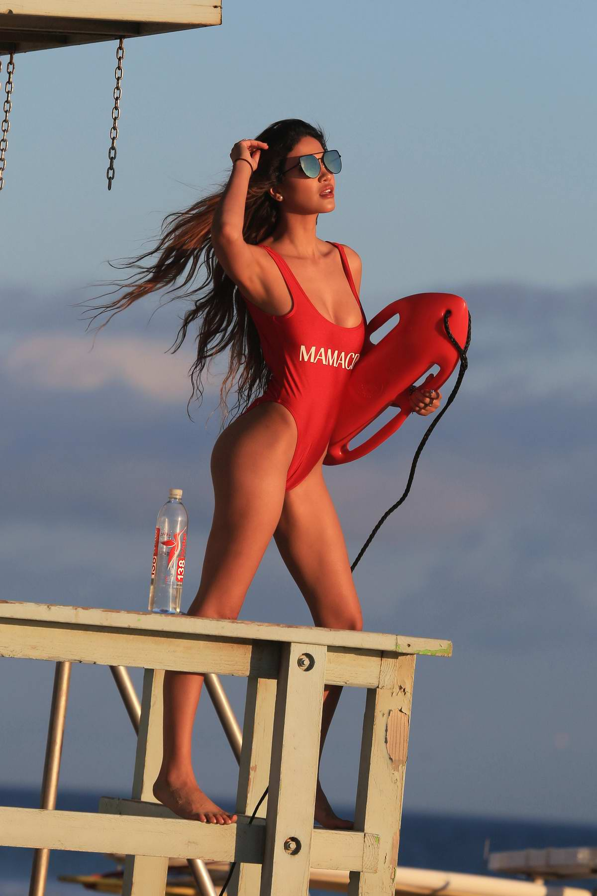 CJ Franco is red hot in Baywatch themed photoshoot for 138 Water in Malibu, California