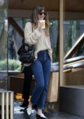 Dakota Johnson spotted while shopping at A.P.C with her dog and a friend on Melrose Place in Los Angeles