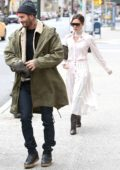 David Beckham and Victoria Beckham step out together while in town for son Brooklyn's 19th birthday in New York City