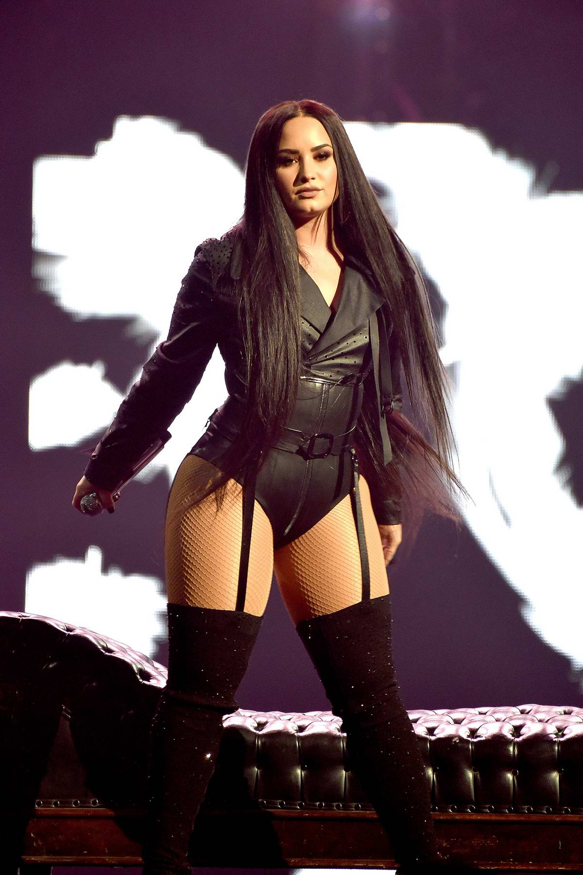Demi Lovato performs live on 'Tell Me You Love Me World Tour' at SAP Center in San Jose, California
