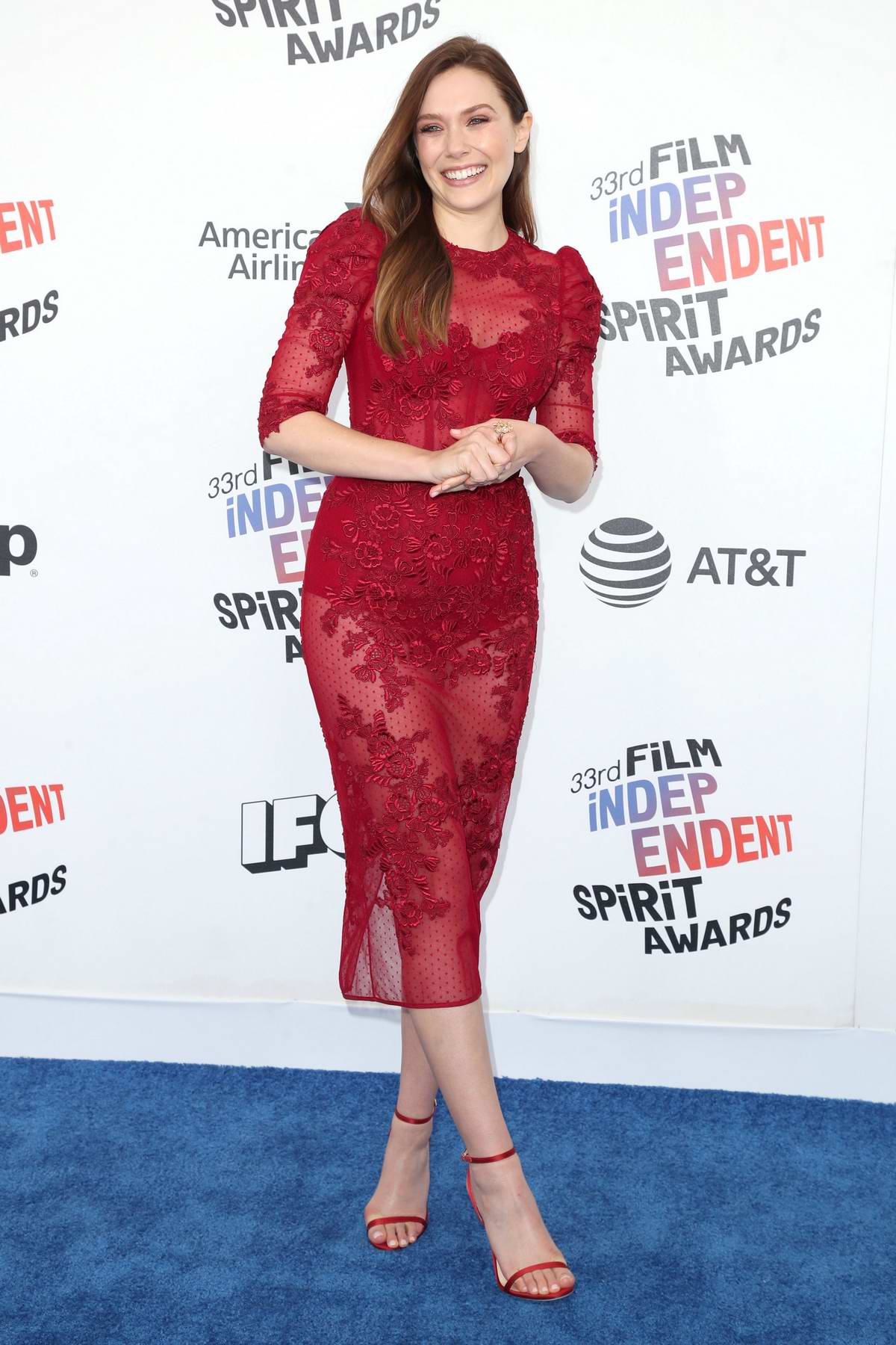 Elizabeth Olsen attends the 33rd Film Independent Spirit Awards in Los Angeles