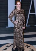 Emily Blunt attends 2018 Vanity Fair Oscar Party at the Wallis Annenberg Center for the Performing Arts in Beverly Hills, Los Angeles