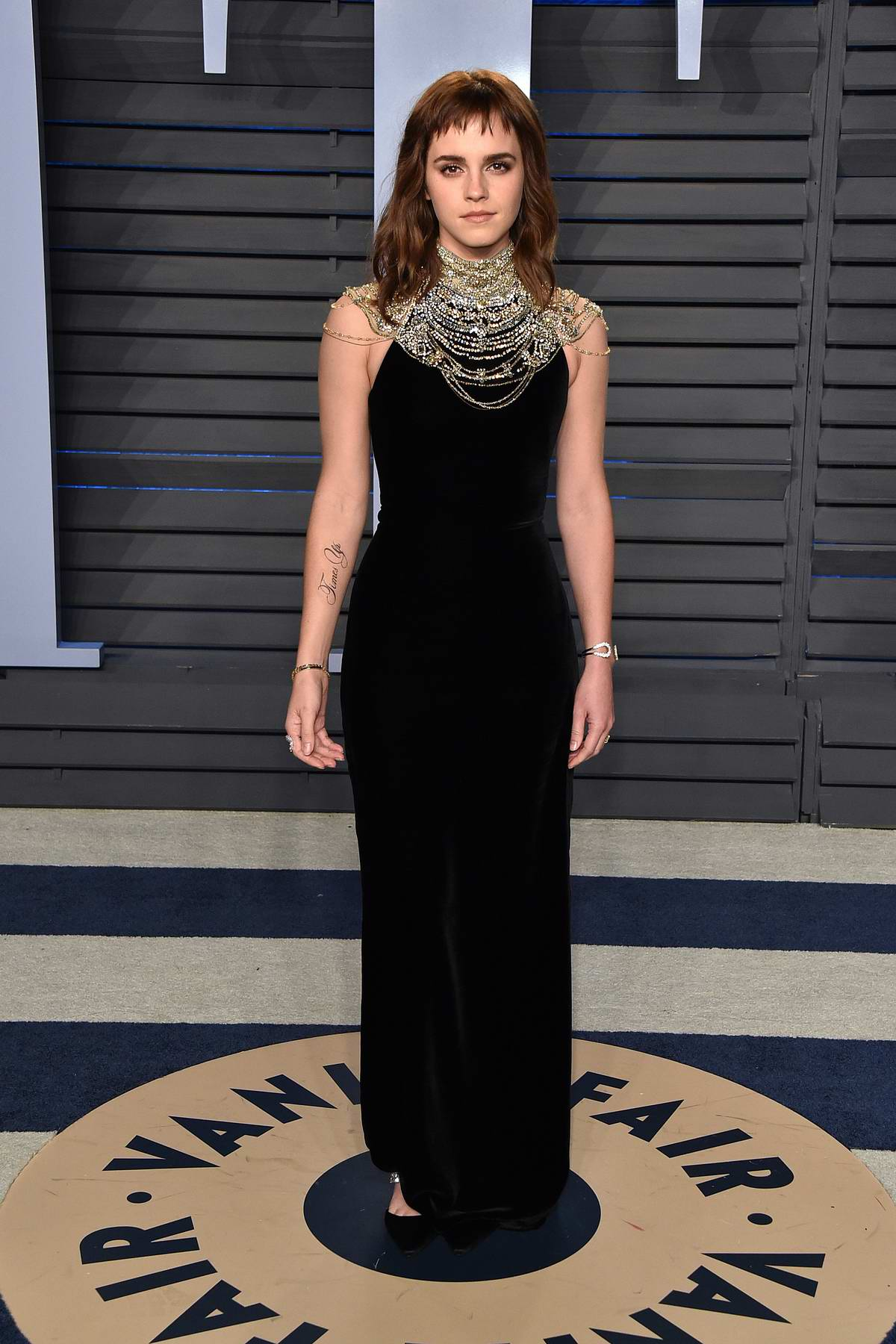 Emma Watson attends 2018 Vanity Fair Oscar Party at the Wallis Annenberg Center for the Performing Arts in Beverly Hills, Los Angeles