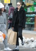 Gigi Hadid steps out in her casuals while out shopping with a friend at Murray's in New York City