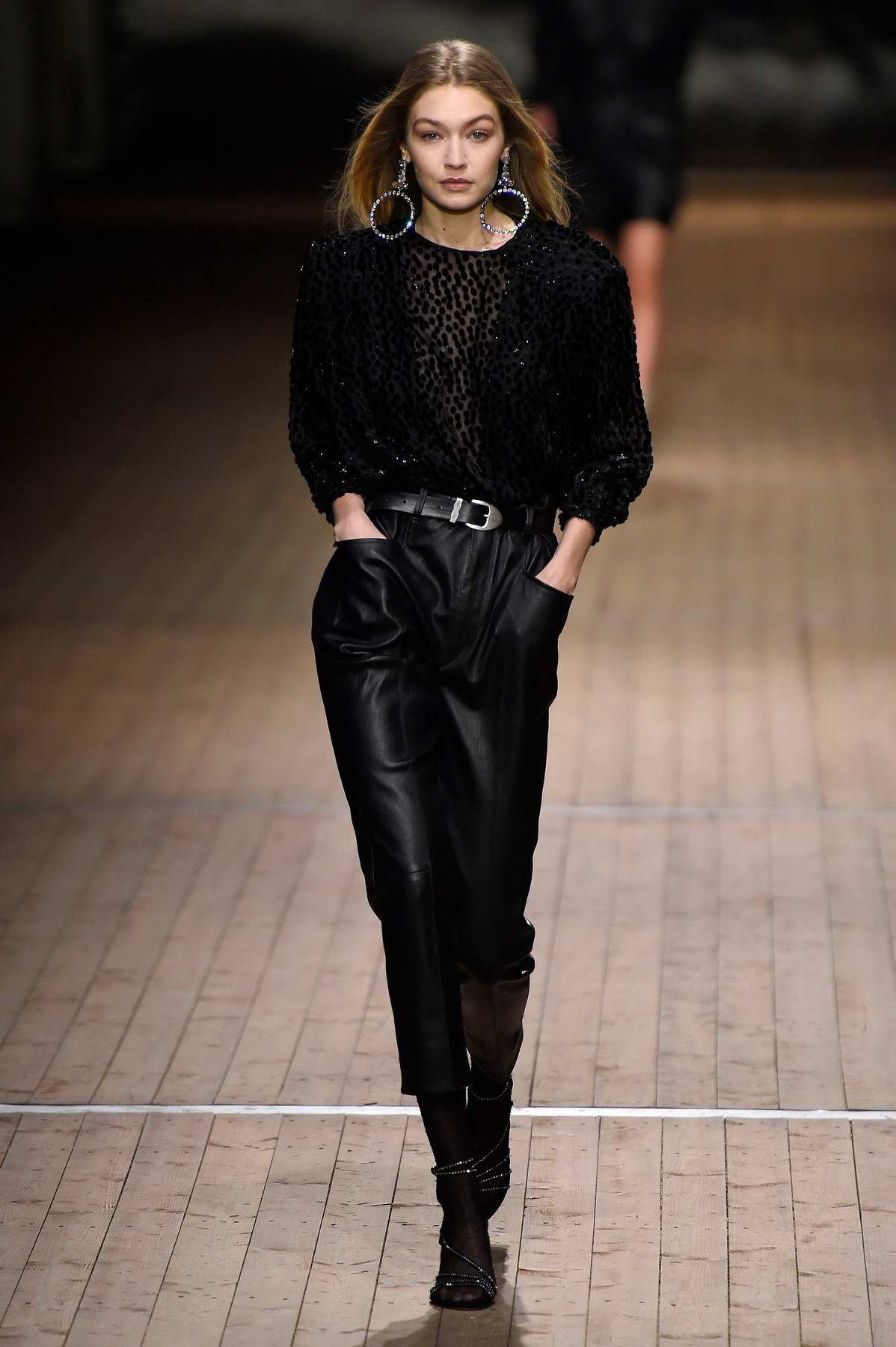 Gigi Hadid walks for Isabel Marant Show during Paris Fashion Week, France
