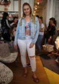 Iskra Lawrence and Aly Raisman attends Aerie flagship store event at Lincoln Road in Miami, Florida