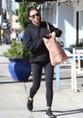 Jenna Dewan Tatum spotted in a black hoodie and leggings as she leaves after a massage session in Studio City, Los Angeles