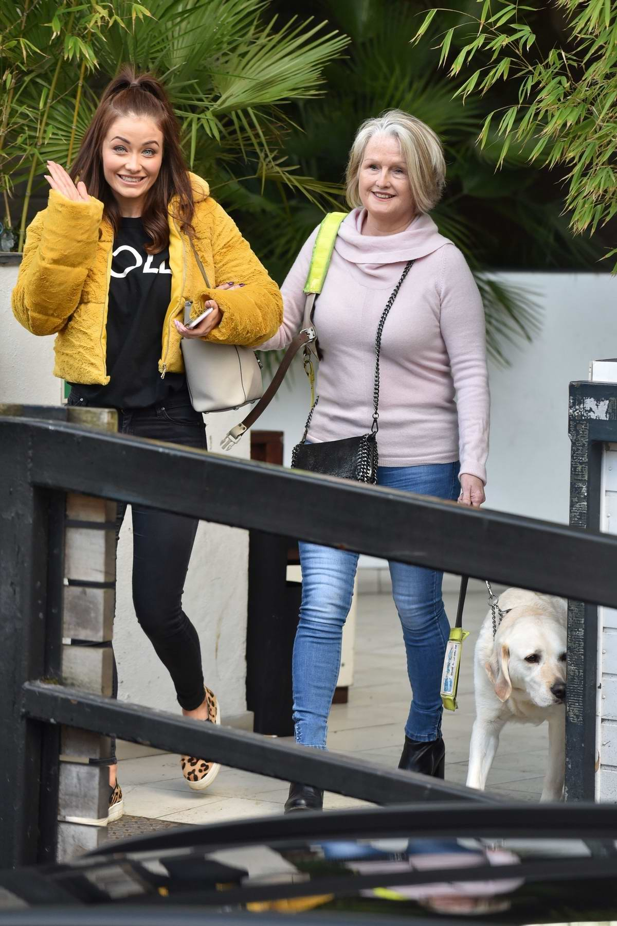 Jess Impiazzi spotted with her mother outside ITV studios in London