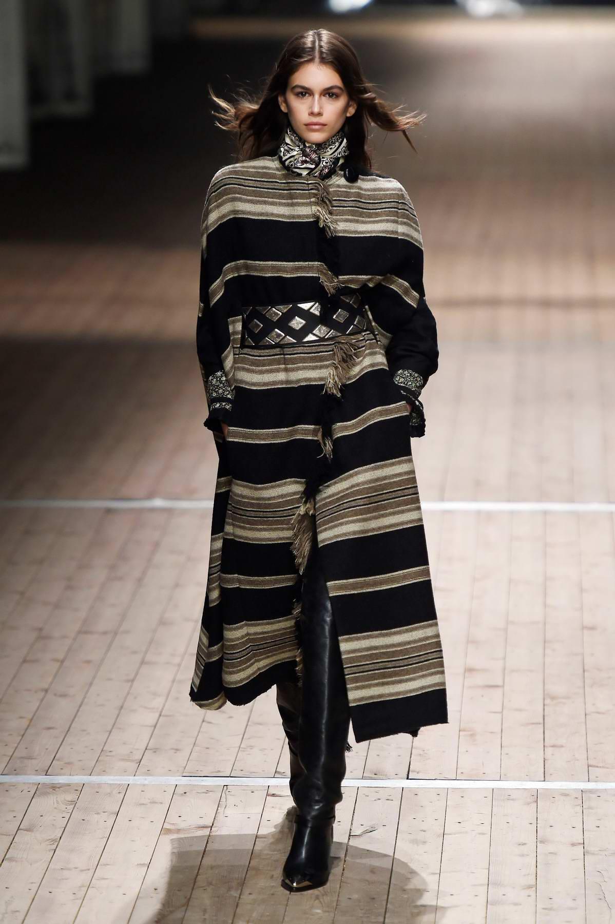 Kaia Gerber walks for Isabel Marant Show during Paris Fashion Week, France