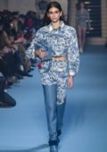 Kaia Gerber walks for the Off-White Show, Fall Winter 2018-19 during Paris Fashion Week, France