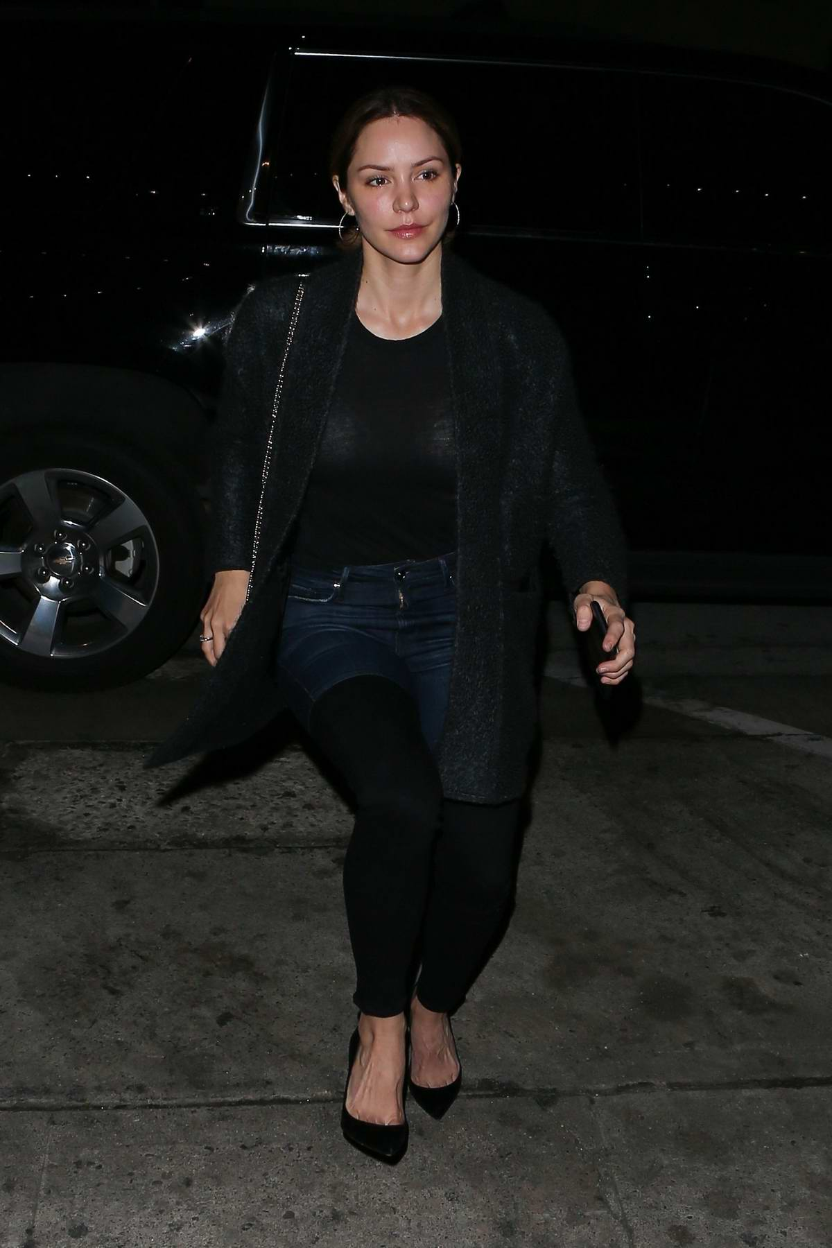 Katharine McPhee arrives for dinner at Craig's in West Hollywood, Los Angeles