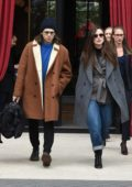 Keira Knightley and James Righton spotted as they leave L' Reserve Hotel in Paris, France