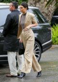 Kendall Jenner arrives at Khloe Kardashian's baby shower in Bel Air, Los Angeles