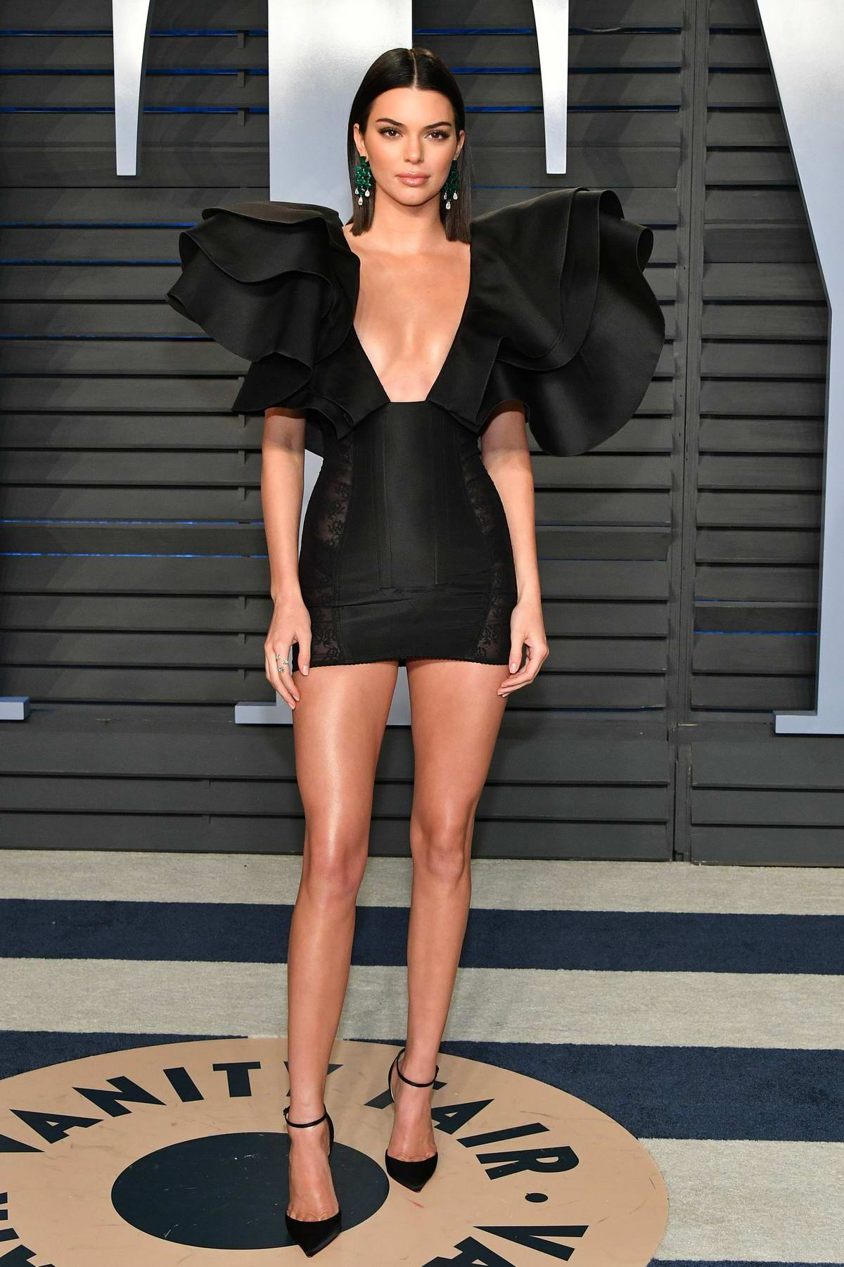 Kendall Jenner attends 2018 Vanity Fair Oscar Party at the Wallis Annenberg Center for the Performing Arts in Beverly Hills, Los Angeles