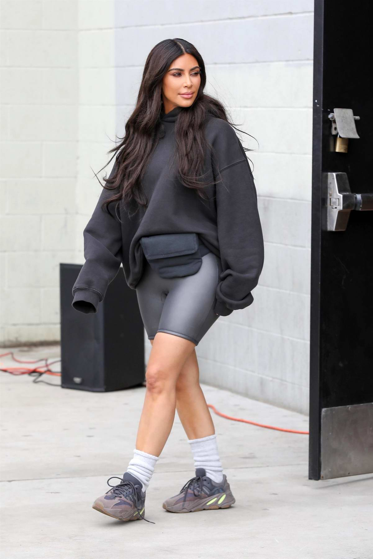 Kim Kardashian at the grand opening of the Watts Empowerment Center in Los Angeles