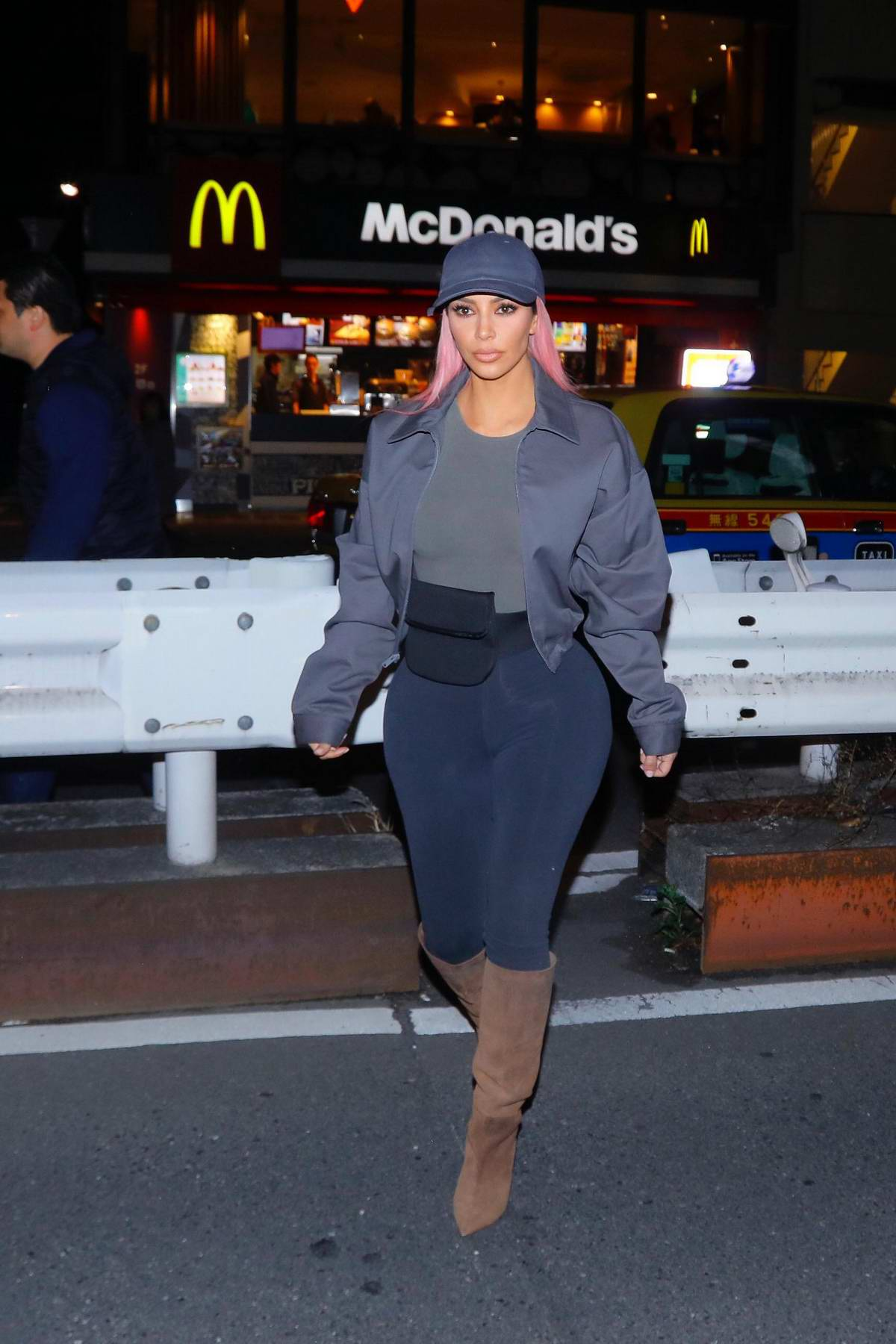 ba37c038a5acc Kim Kardashian grabs some french fries at McDonald s in Tokyo