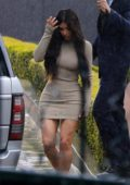 Kim Kardashian spotted leaving Khloe Kardashian's baby shower at the Bel Air hotel in Beverly Hills, Los Angeles