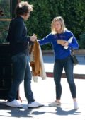 Kristen Bell spotted leaving after having breakfast with a friend at Little Dom's in Los Angeles