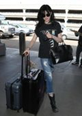 Krysten Ritter and boyfriend Adam Granduciel arrives at LAX airport to catch a flight out of Los Angeles