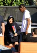 Kylie Jenner and Travis Scott spotted while enjoying a boat trip in Miami, Florida