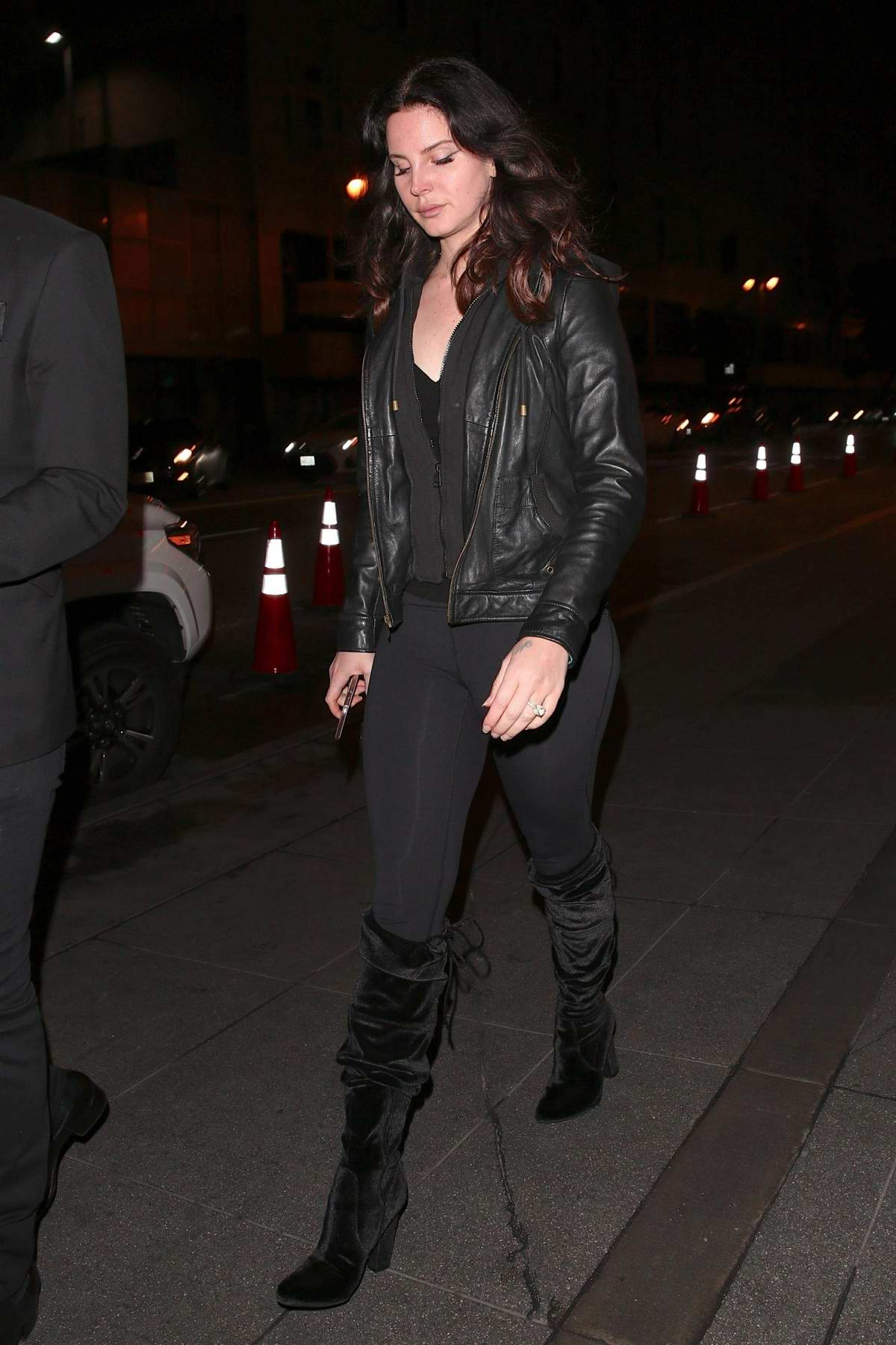 Lana Del Rey attends a Robert Plant concert in Downtown Los Angeles