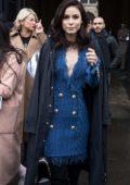 Lena Meyer-Landrut arriving at Balmain Fall Winter 2018 Show during Paris Fashion Week, France
