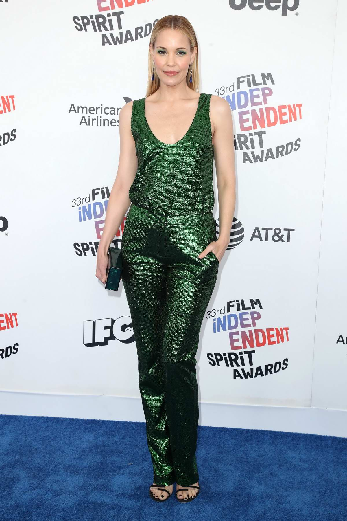 Leslie Bibb attends the 33rd Film Independent Spirit Awards in Los Angeles