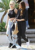 Lottie Moss and Sofia Richie enjoy their day out shopping together at The Elder Statesman in West Hollywood, Los Angeles