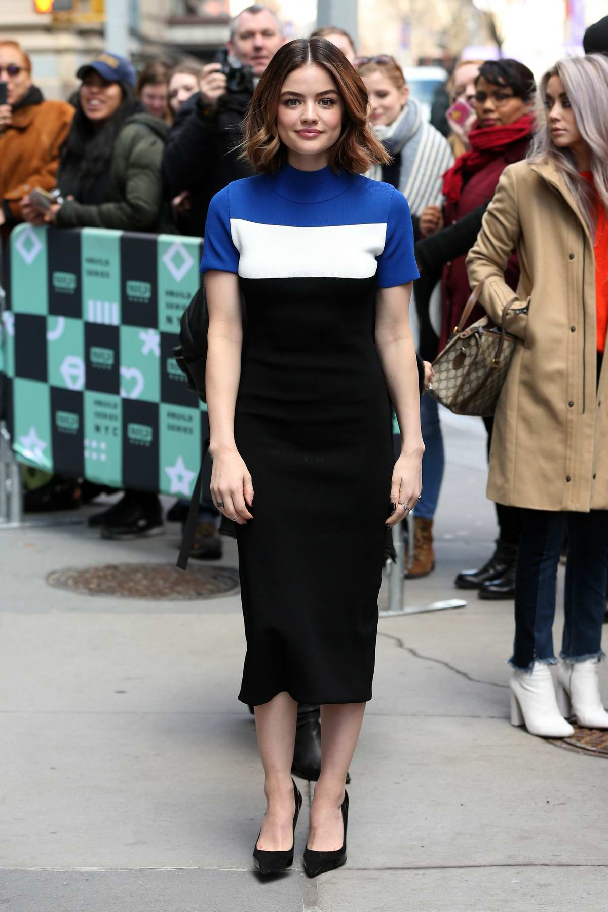 Lucy Hale visits AOL Build Series in New York City