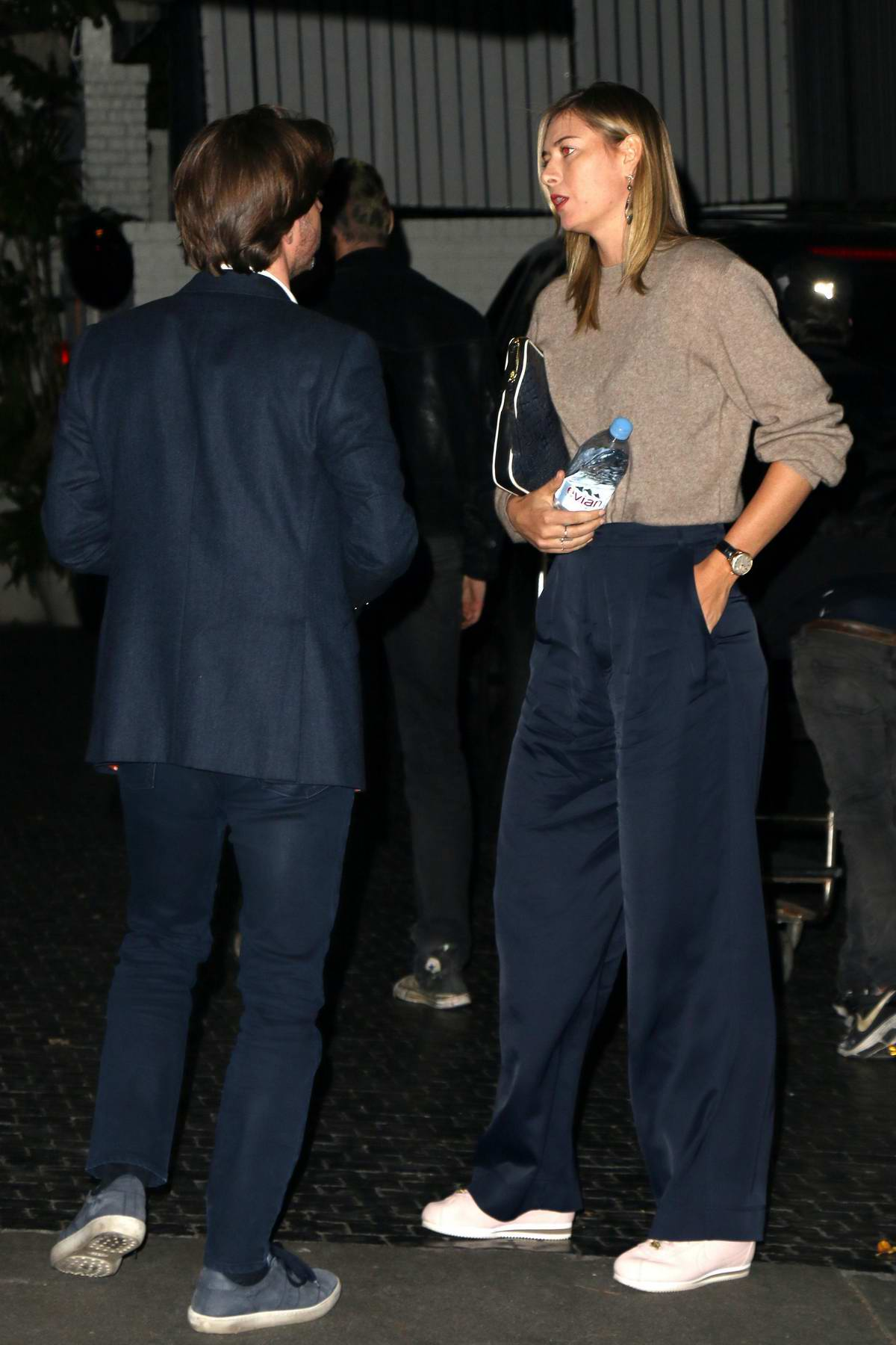 Maria Sharapova spotted with a dinner date at the Chateau Marmont in Los Angeles