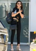 Michelle Keegan spotted in a black knotted top and skinny jeans while out in West Hollywood, Los Angeles