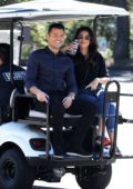 Michelle Keegan visits husband Mark Wright on set of 'Extra' in Los Angeles