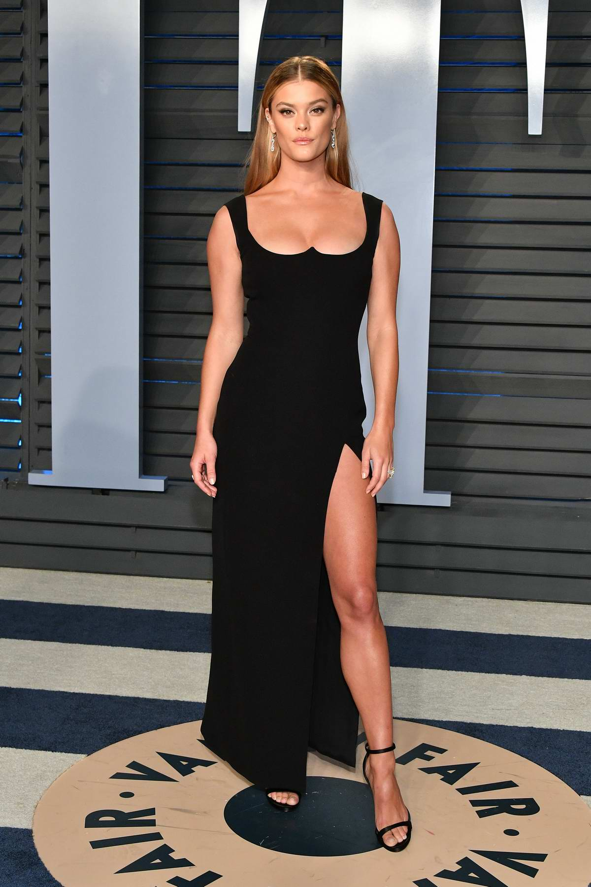 Nina Agdal attends 2018 Vanity Fair Oscar Party at the Wallis Annenberg Center for the Performing Arts in Beverly Hills, Los Angeles