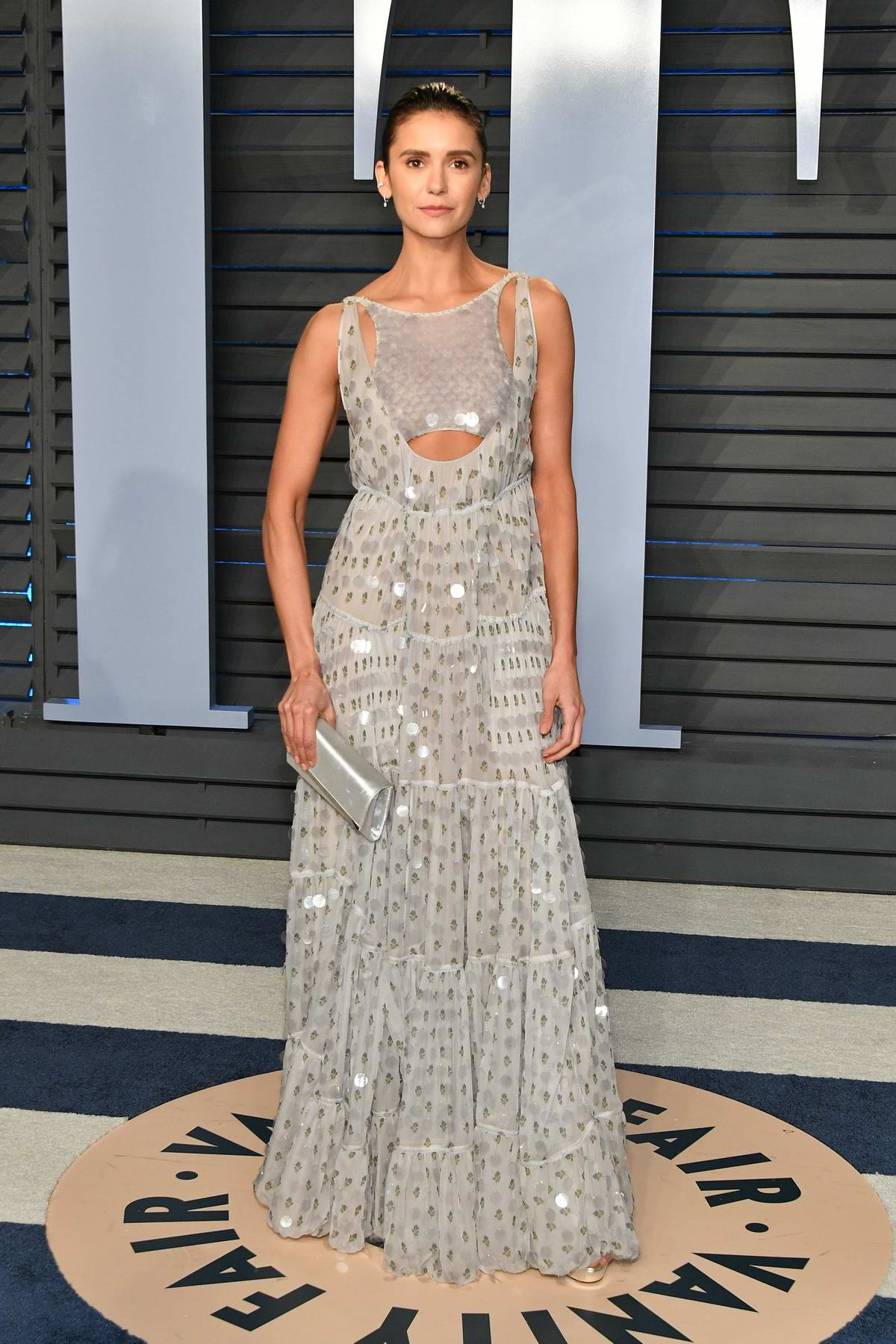 Nina Dobrev attends 2018 Vanity Fair Oscar Party at the Wallis Annenberg Center for the Performing Arts in Beverly Hills, Los Angeles