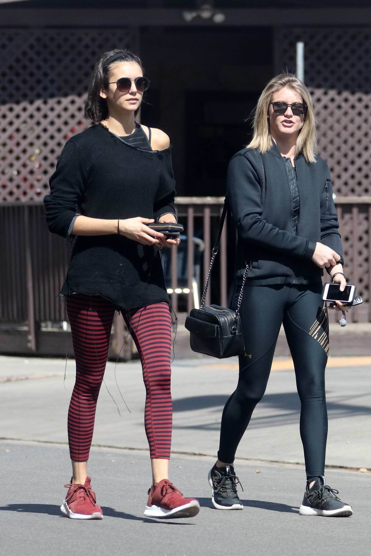 Nina Dobrev spotted leaving a dance class with a friend in Los Angeles