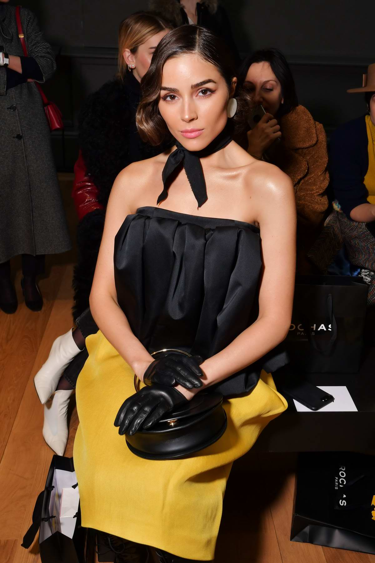 Olivia Culpo attends Rochas Show, Fall Winter 2018 during Paris Fashion Week, France