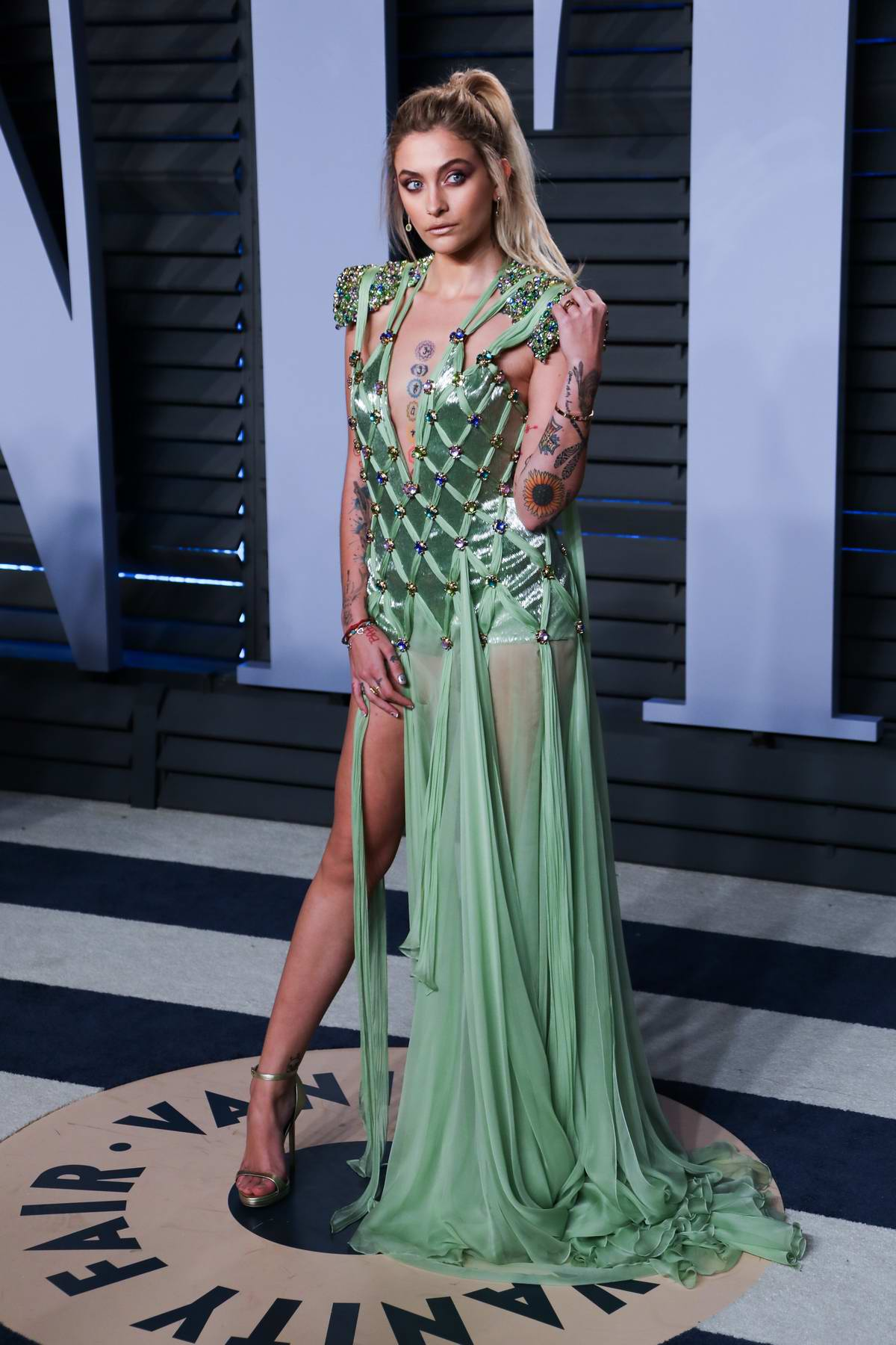 Paris Jackson Attends 2018 Vanity Fair Oscar Party At The