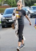 Paris Jackson spotted in a Guns N' Roses tee with a knit cardigan while out with a friend in Los Angeles