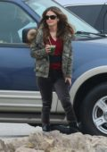 Rachel Bilson takes a break during filming of the TV series 'Take Two' in Malibu, California