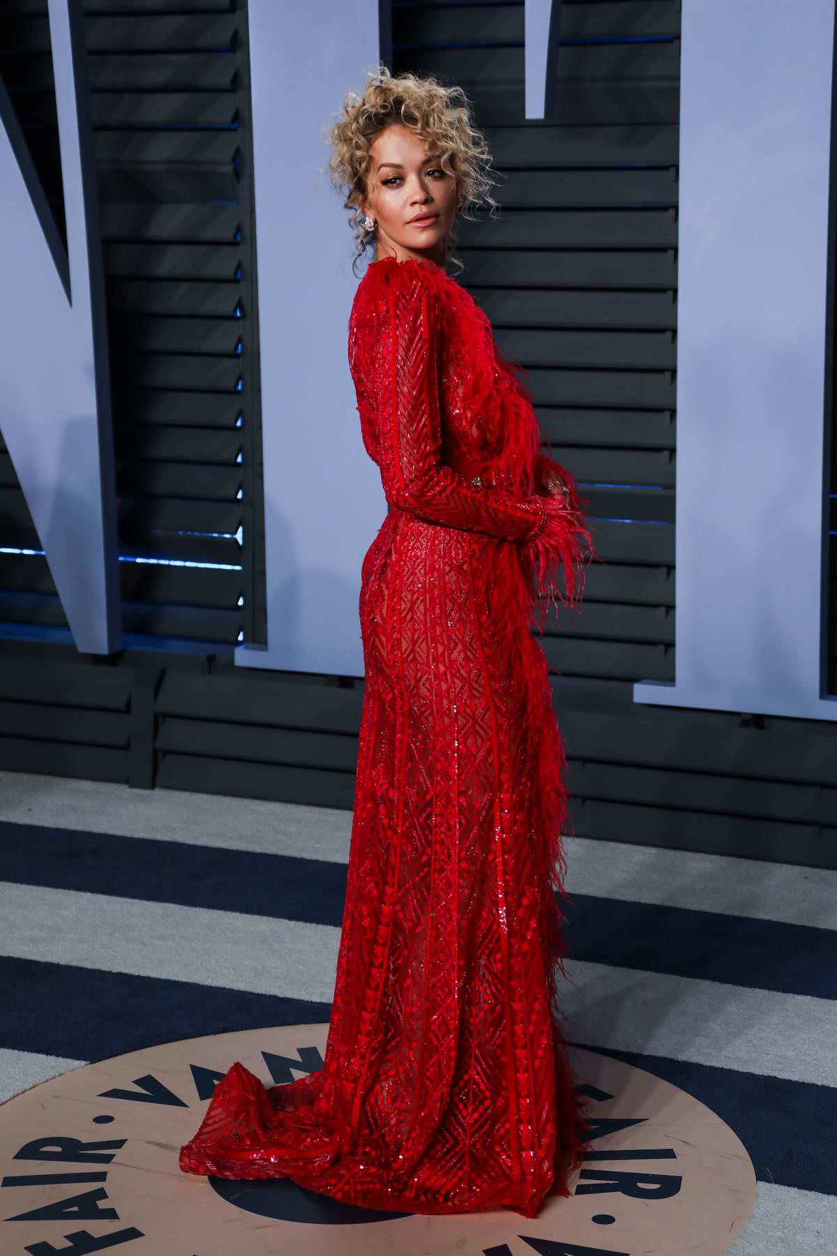 Rita Ora attends 2018 Vanity Fair Oscar Party at the Wallis Annenberg Center for the Performing Arts in Beverly Hills, Los Angeles