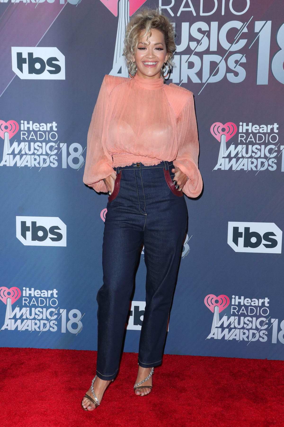 Rita Ora attends the 2018 iHeartRadio Music Awards at The Forum in Inglewood, California