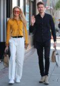 Romee Strijd and boyfriend Laurens van Leeuwen enjoy a day out in Venice, California