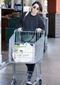 Rooney Mara looked cozy in her sweats while shopping groceries in Los Angeles
