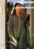 Selena Gomez and Francia Raisa hangs out at a friends place in Toluca Lake, California
