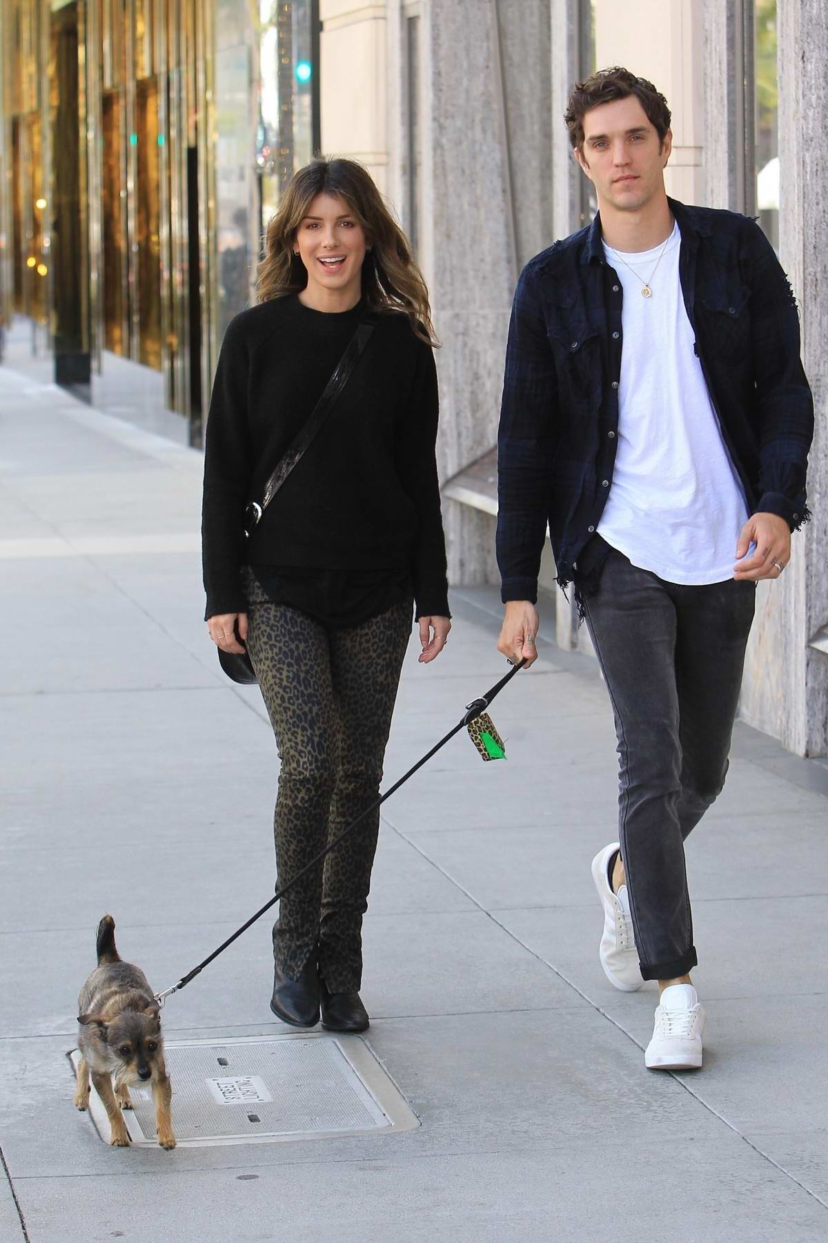Shenae Grimes is all smiles with Josh Beech while out shopping in Beverly Hills, Los Angeles